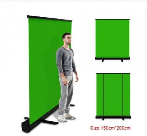 Экран фон-хромакей PYNSSEU 150 см * 200 см для фотостудии складной зеленый