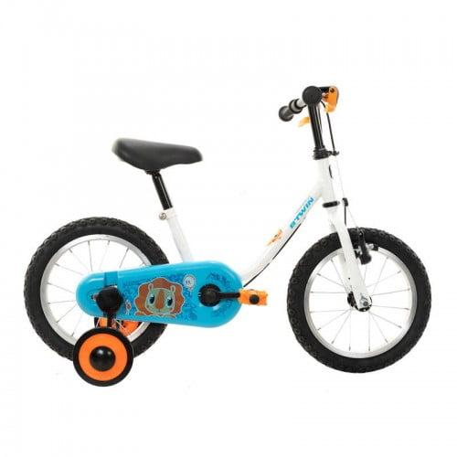 """Детский велосипед от 3 до 5 лет прогулочный 14"""" PETITBLUE 100 BTWIN"""